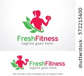 fresh fitness logo template... | Shutterstock .eps vector #572215600