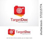target doc logo template design ... | Shutterstock .eps vector #572215774