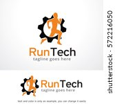 run tech logo template design... | Shutterstock .eps vector #572216050