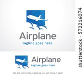 airplane logo template design... | Shutterstock .eps vector #572216074