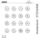 menu flat icon set. collection...