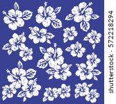 hibiscus flower illustration | Shutterstock .eps vector #572218294