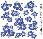 hibiscus flower illustration | Shutterstock .eps vector #572218324