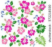 hibiscus flower illustration | Shutterstock .eps vector #572218330