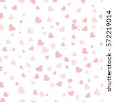 pink vector hearts on white... | Shutterstock .eps vector #572219014