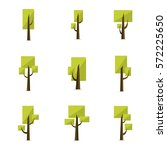 set of tree style collection... | Shutterstock .eps vector #572225650