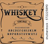 whiskey handwritten handcrafted ... | Shutterstock .eps vector #572225890