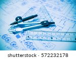 construction planning and... | Shutterstock . vector #572232178