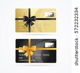 vip or premium present plastic... | Shutterstock .eps vector #572232334