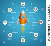 start up business concept space ... | Shutterstock .eps vector #572232850