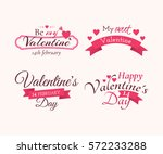 vector set of badges and labels ... | Shutterstock .eps vector #572233288