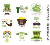typographic saint patrick's day ... | Shutterstock .eps vector #572233648