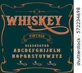 whiskey typeface  font script... | Shutterstock .eps vector #572234698