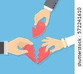 broken heart concept. male and... | Shutterstock .eps vector #572241610