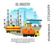oil industry template with... | Shutterstock .eps vector #572242459