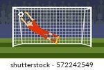 Goalkeeper In The Gate On The...