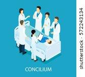 medical meeting isometric... | Shutterstock .eps vector #572243134