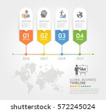 business timeline elements... | Shutterstock .eps vector #572245024
