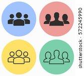 people vector icons set. black... | Shutterstock .eps vector #572245990
