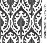 vector ikat seamless pattern.... | Shutterstock .eps vector #572247244