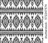 vector ikat seamless pattern.... | Shutterstock .eps vector #572247574
