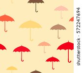 seamless pattern with umbrellas ... | Shutterstock .eps vector #572247694