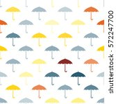 seamless pattern with umbrellas ... | Shutterstock .eps vector #572247700