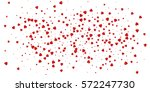 heart confetti of valentines... | Shutterstock .eps vector #572247730