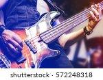 guitar neck close up on a... | Shutterstock . vector #572248318
