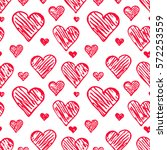 background of doodle hearts ... | Shutterstock .eps vector #572253559