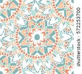 flower mandala colorful... | Shutterstock .eps vector #572253700
