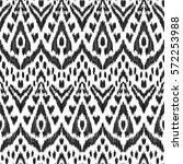 vector ikat seamless pattern.... | Shutterstock .eps vector #572253988