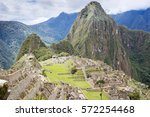the ancient city of machu... | Shutterstock . vector #572254468