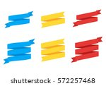 flat vector ribbons banners.... | Shutterstock .eps vector #572257468