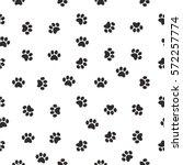 Cat Paw Print. Vector Seamless...