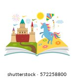 the concept of the book of... | Shutterstock .eps vector #572258800