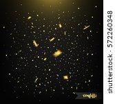 confetti isolated on dark...   Shutterstock .eps vector #572260348