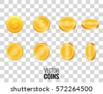 vector coins in different... | Shutterstock .eps vector #572264500