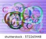 alphabet c vector pattern | Shutterstock .eps vector #572265448