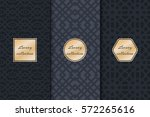 set of vintage backgrounds for... | Shutterstock .eps vector #572265616
