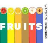 fruits slices with color... | Shutterstock .eps vector #572269174