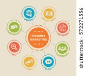 internet marketing. concept... | Shutterstock .eps vector #572271556