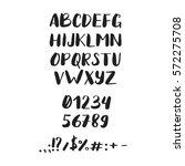 font. script. handwritten brush ...   Shutterstock .eps vector #572275708