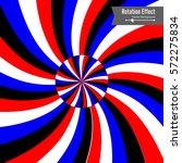 optical illusion. vector 3d art.... | Shutterstock .eps vector #572275834