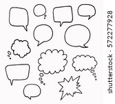 Speech Or Thought Bubbles Of...