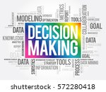 decision making word cloud ... | Shutterstock .eps vector #572280418