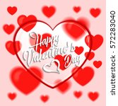 valentines day background with... | Shutterstock .eps vector #572283040