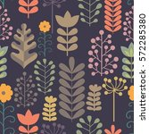 seamless pattern with stylized... | Shutterstock .eps vector #572285380