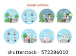 heart attack infographic on... | Shutterstock .eps vector #572286010