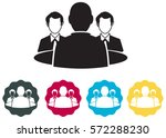 counseling   meeting  icon | Shutterstock .eps vector #572288230